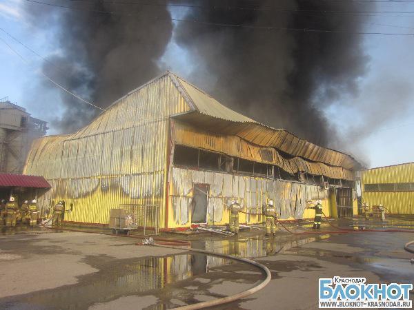 В Краснодаре произошел пожар на территории рынка «Гарант»