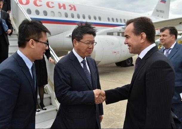 Встретился с делегацией из Китая губернатор Краснодарского края