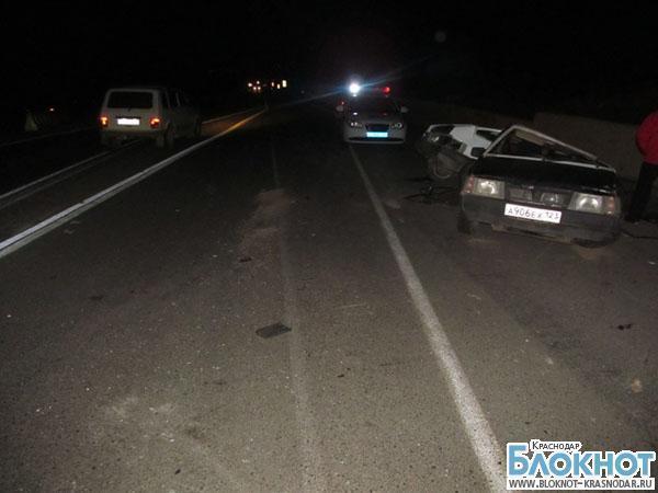 В Горячеключевском районе «Шкода Октавиа» протаранила два автомобиля