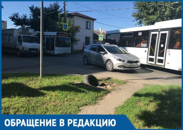 «Мы отрезаны от всего мира»: краснодарка о пробках вблизи улицы Тургенева